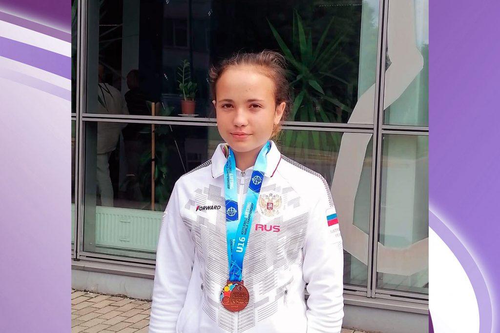 Бронзовую медаль завоевала Алёна Тимофеева на первенстве мира по гиревому спорту