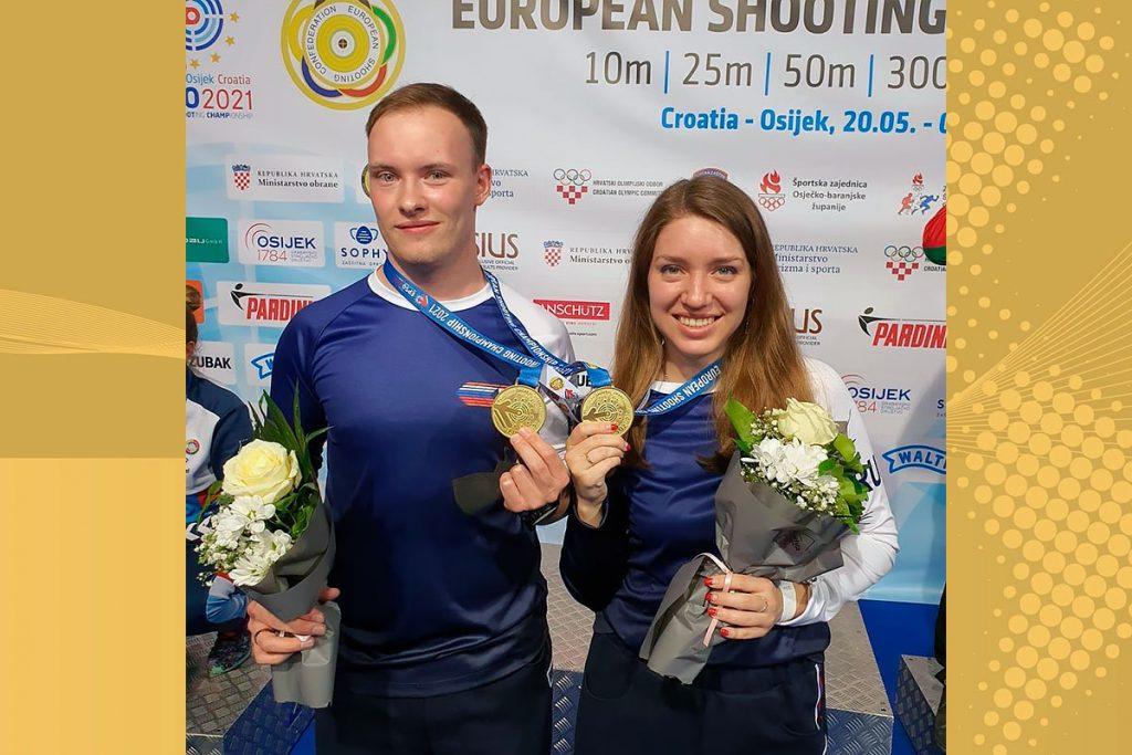 Вторую золотую медаль завоевал Артём Черноусов на чемпионате Европы по пулевой стрельбе
