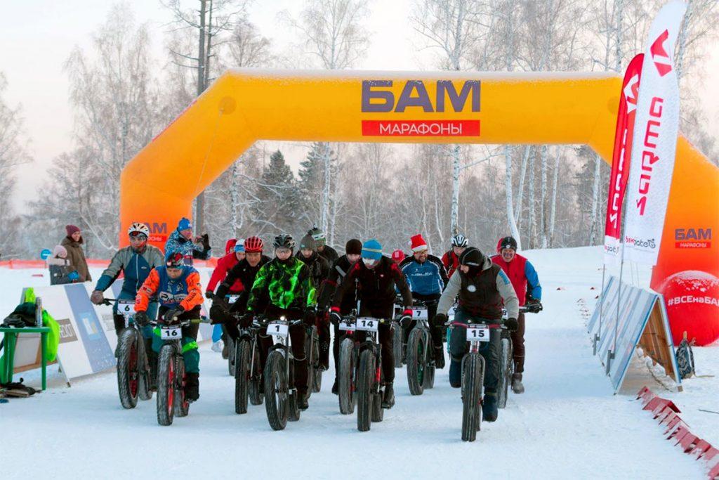 21 декабря состоялся второй этап зимней гонки на горных велосипедах «БАМ Ночная гонка Молодой Луны»