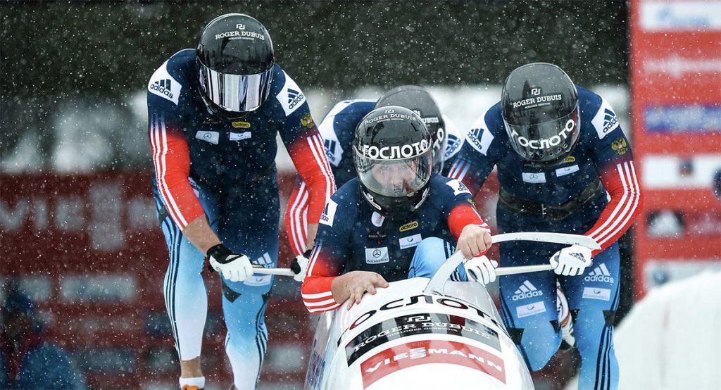 Григорий Волосков в составе команды завоевал серебряную медаль первенства Европы по бобслею