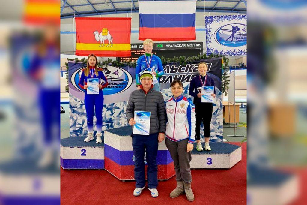 Дарья Филиппова заняла второе место на Кубке России по конькобежному спорту по многоборью