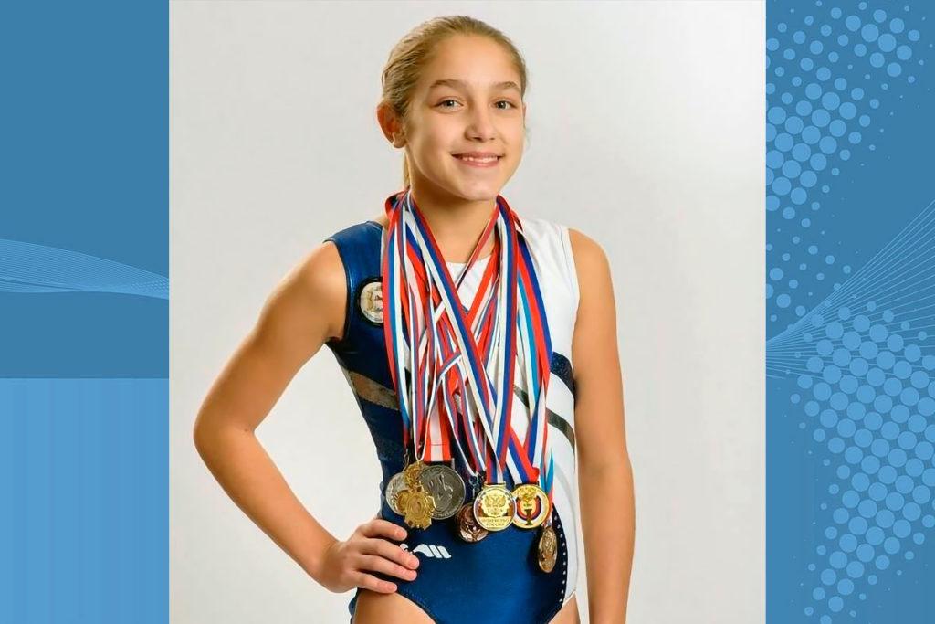 Дарья Неспанова завоевала бронзовую медаль на чемпионате России по прыжкам на батуте
