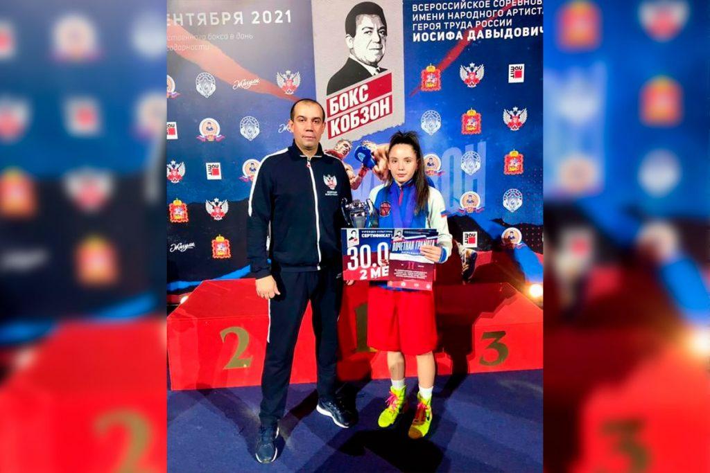 Мария Хузахметова выиграла серебряную медаль на всероссийских соревнованиях по боксу