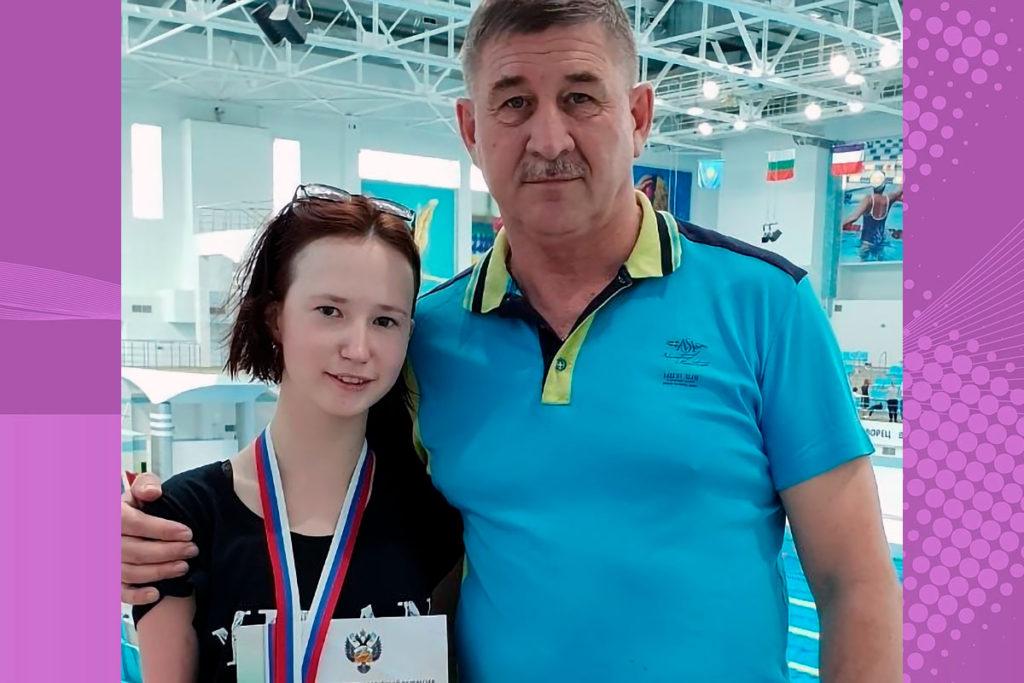 Полина Антипина стала двукратным серебряным призёром чемпионата России по плаванию среди лиц с ПОДА