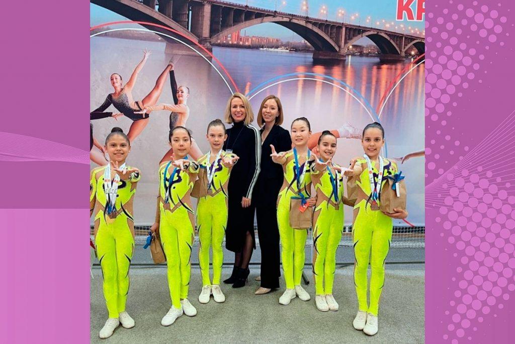 Спортсменки Приангарья успешно выступили на открытом первенстве по спортивной аэробике в Красноярске