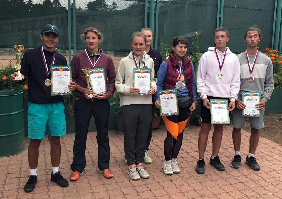 Призёры чемпионата Иркутской области по теннису