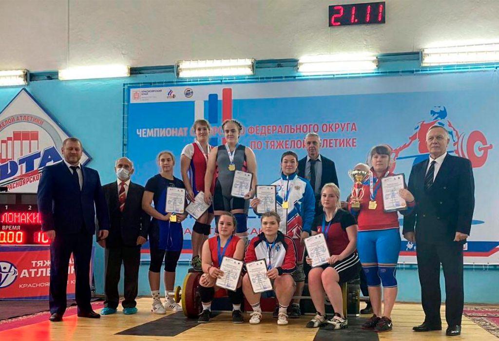 Десять медалей завоевали тяжелоатлеты Приангарья на чемпионате СФО в Красноярске