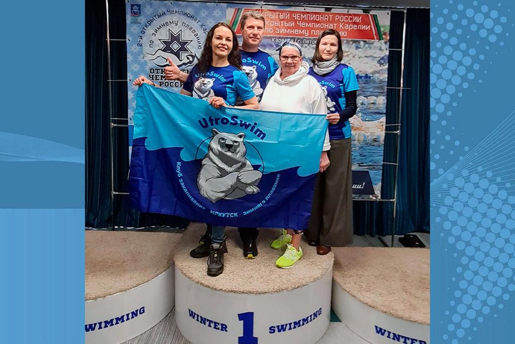 Пять медалей завоевали спортсменки Приангарья на открытом чемпионате России по зимнему плаванию