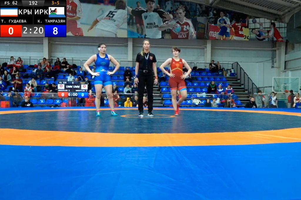 Кристина Тамразян стала бронзовым призёром первенства России по вольной борьбе среди юниорок до 21 года