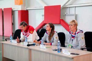 В Иркутске прошла встреча олимпийцев с юными баскетболистами